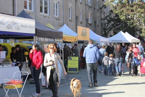 Slow Food Market at Abbotsford Convent in Melbourne