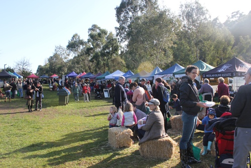 Produce Stalls at Collingwood Children's Farm Market in Melbourne