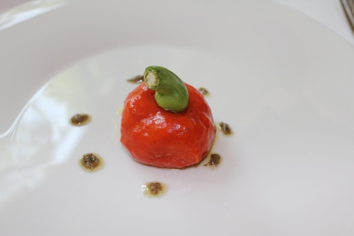 Capsicum with anchovy and tuna and a caper sauce at All'Enoteca, Canale