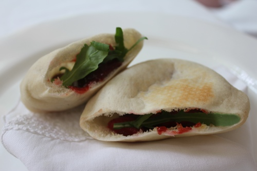Amazing foie gras & fragole piadini at Alle'Enoteca in
