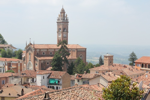 Across the rooftops of Monforte d'Alba