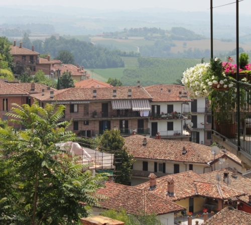 View from the top of Monforte d'Alba