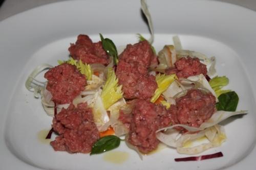 Veal Tartare at Il Cascinalenuovo in Isola d'Asti