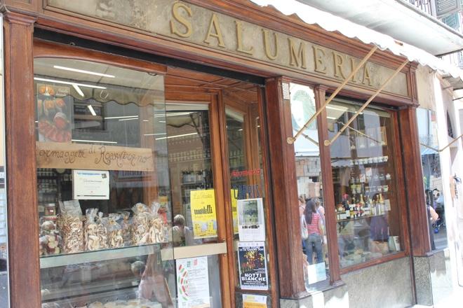 The local salumeria in Acqui Terme