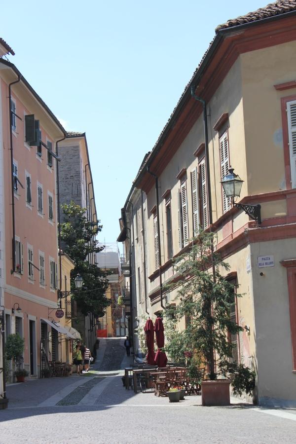 Cobble stone streets of Acqui Terme