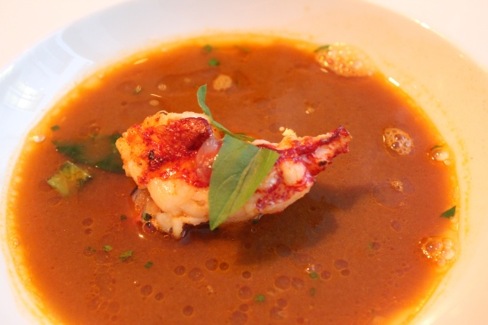 Breton Lobster Tail in Fish Soup at Spring, Paris