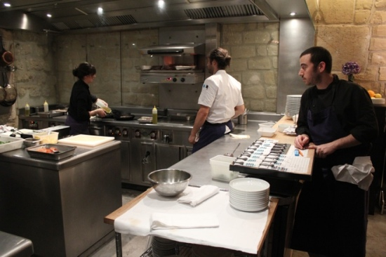 The kitchen at Spring in Paris