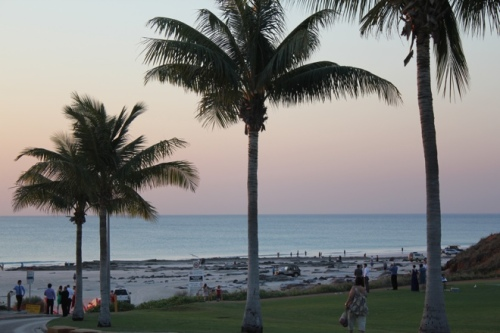 Watching the sunset from the grass, Cable Beach