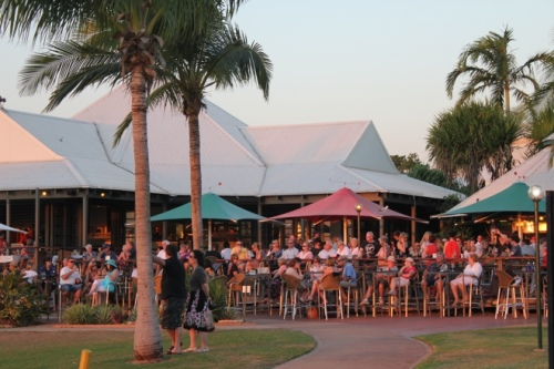 Watching the sunset from the Sunset Bar at Cable Beach