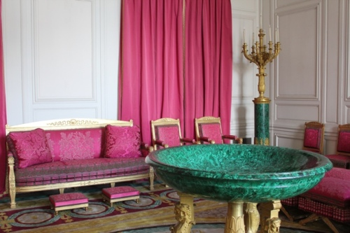Napoleon's Malachite room at the Grand Trianon, Versaille