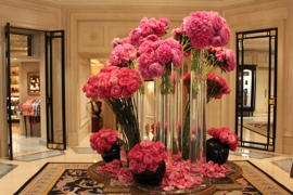 Flowers at the George V Hotel
