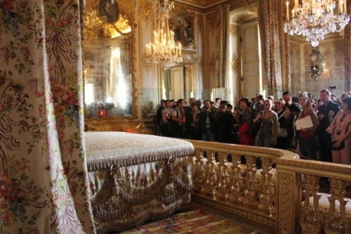 Looking at the crowds from behind the scenes at Versailles