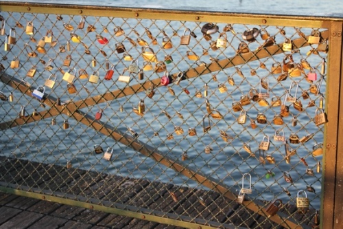 Locks on the Pont des Arts, Paris
