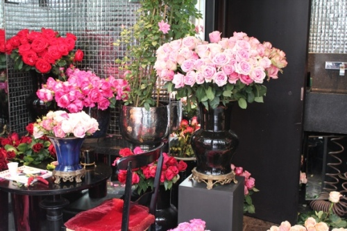 Roses at the Hotel Costes florist in Paris