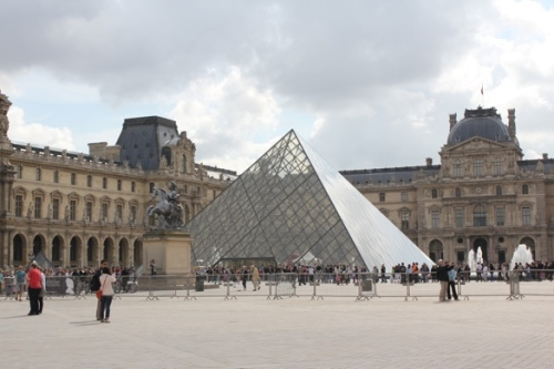 I.M Pei's Pyramid at the Louvre