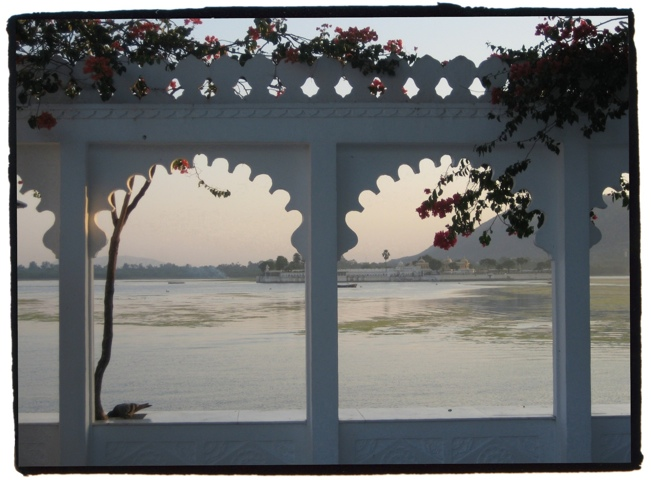 View from the Lake Palace Hotel in Udaipur