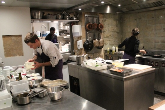 The kitchen at Spring, Paris