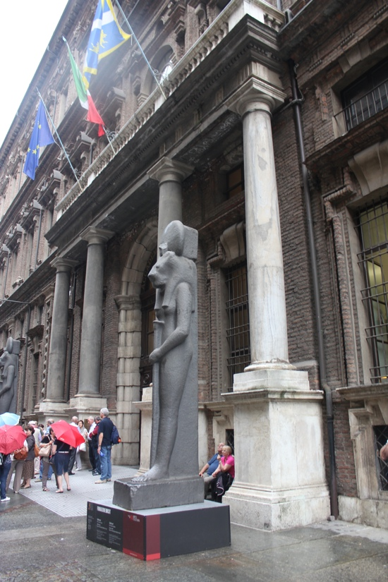 The Entrance to the Egyptian Museum in Turin